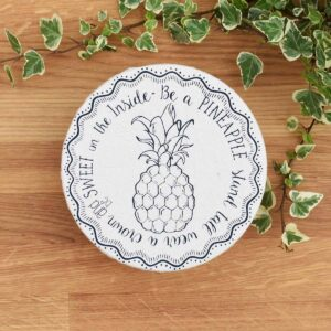 Your Green Kitchen Small Cotton Bowl Cover Pineapple Print