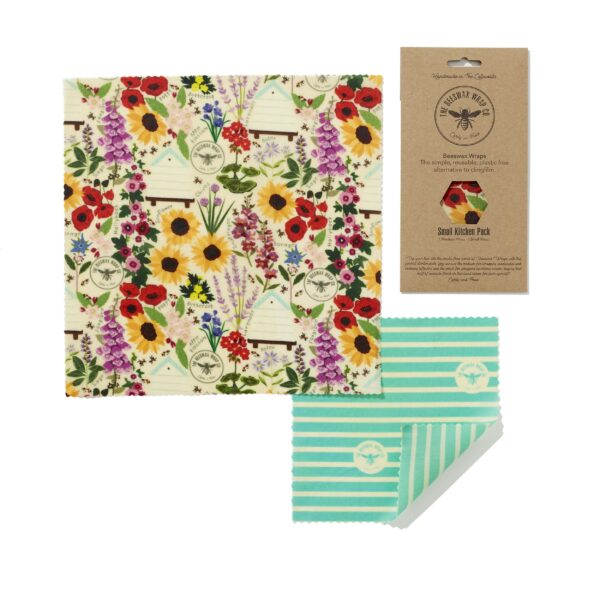 The Beeswax Wrap Co Beeswax Wraps Small Kitchen Pack Floral Print