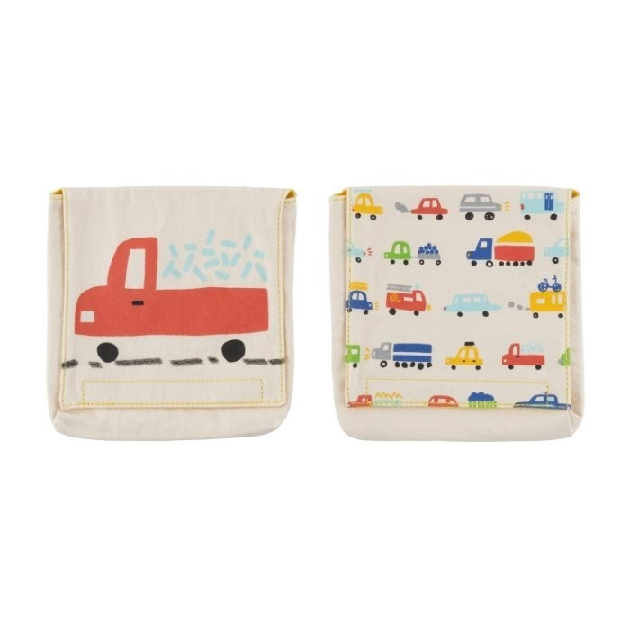 cotton reusable snack packs cars pack of 2