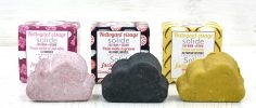 Set of three facial cleansing bars