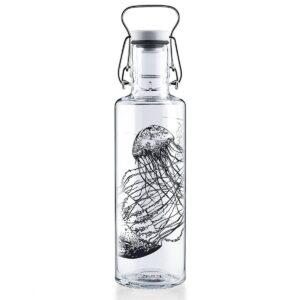 Soul Jellyfish Glass Water Bottle