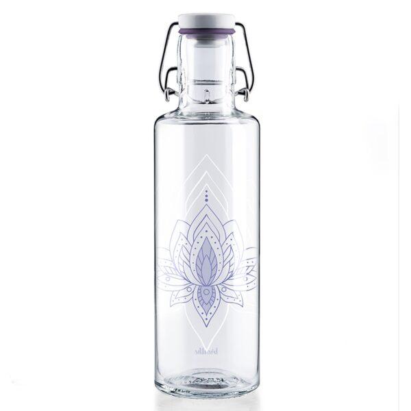 Soul Just Breathe Glass Water Bottle