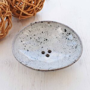 Clod and Pebble Grey Speckle Ceramic Soap Dish