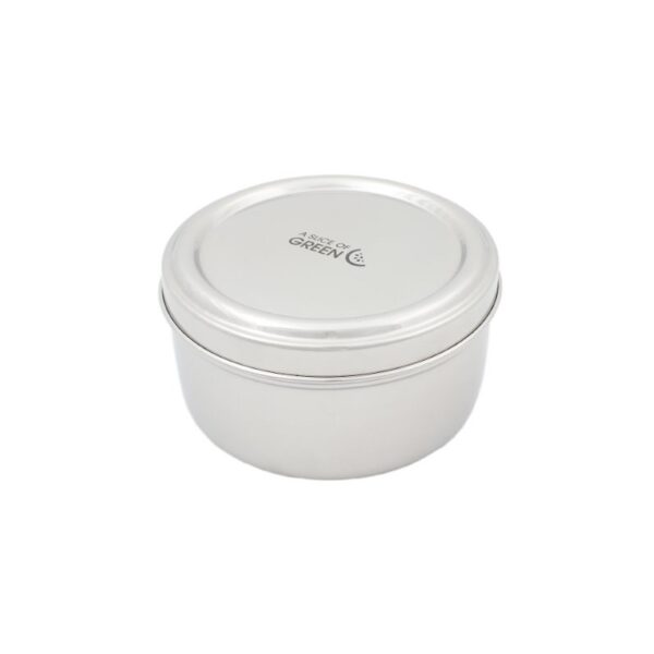 A Slice of Green Stainless Steel Round Food Container