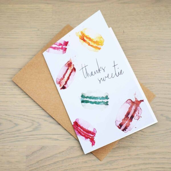 Stefanie Lau Eco-friendly Greetings Card Thanks Sweetie With Envelope
