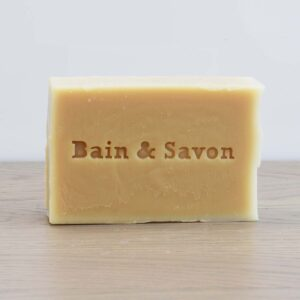 Bain & Savon, Bain and Savon , Thyme and Witch hazel Facial Soap Bar, cleansing facial soap, vegan-friendly, natural, plastic-free, bio-degradable, handmade,