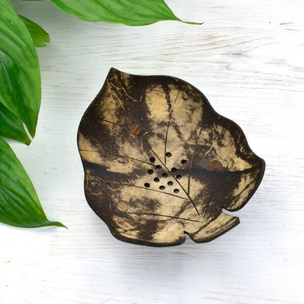 Tobacoo Leaf Coconut Shell Soap Dish