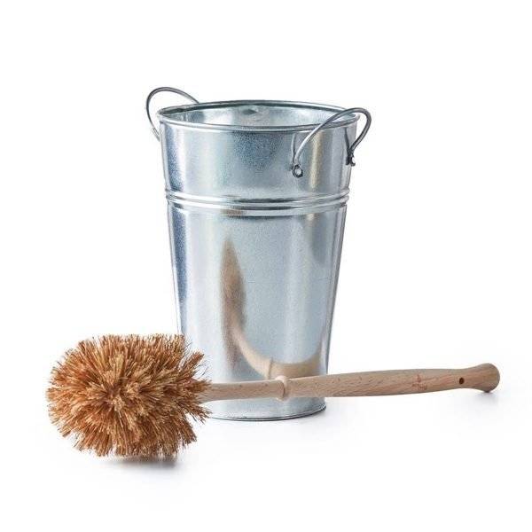 eco living, compostable, biodegradable, handmade, Natural Bristle Toilet Brush, toilet brush holder, metal toilet brush holder, toilet brush, Large, plastic-free, beech wood, metal, recyclable