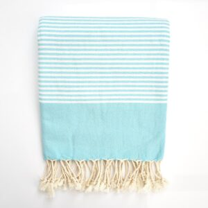 Ebb Flow Cornwall Turquoise Turkish Towel Quick Dry Chappie Hammam Towel