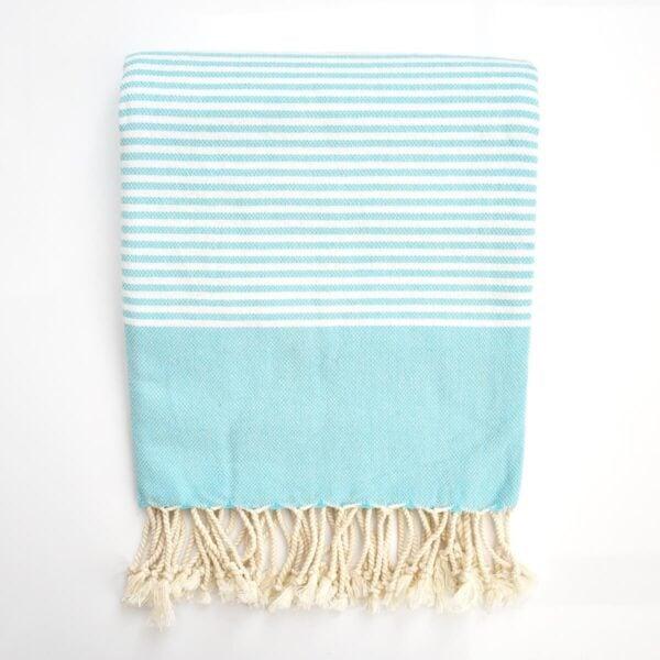 Ebb Flow Cornwall Turquoise Turkish Towel Quick Dry Chappie Hammam Towel