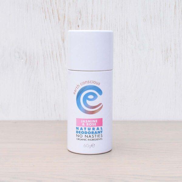 Earth Conscious Jasmine & Rose Natural Deodorant Stick