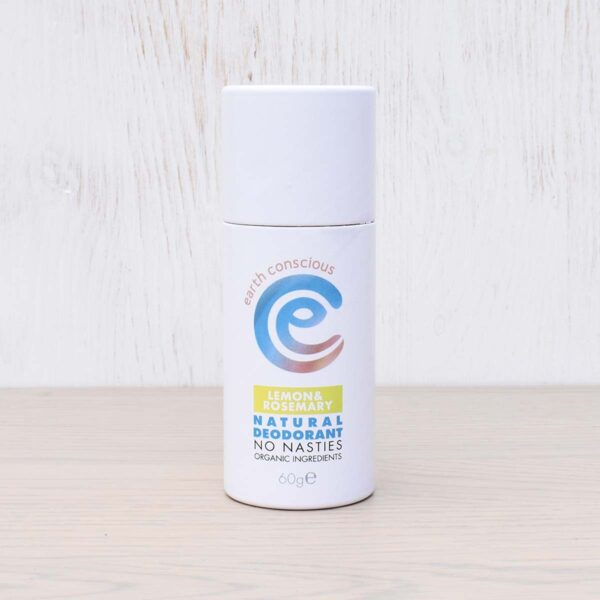 Earth Conscious Lemon & Rosemary Natural Deodorant Stick