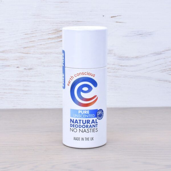 Earth Conscious Pure Unscented Natural Deodorant Stick