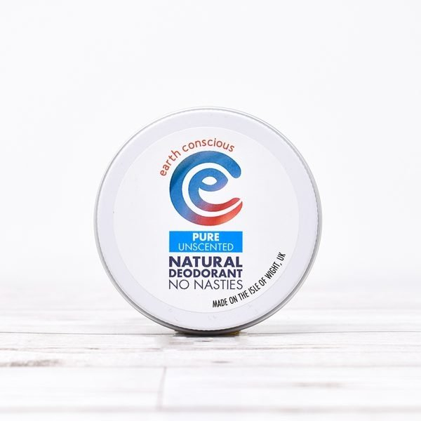 Earth Conscious Pure Unscented Natural Deodorant Tin