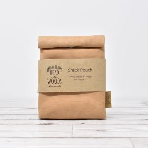 Head in the Woods Beige Paper Bag Style Vegan Snack Pouch