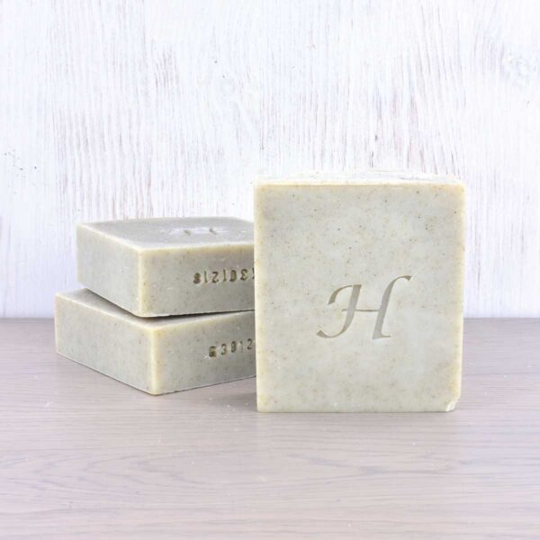 Hatton Soap bars, gardeners soap bar, vegan friendly, plastic-free, set of soap bars stacked,