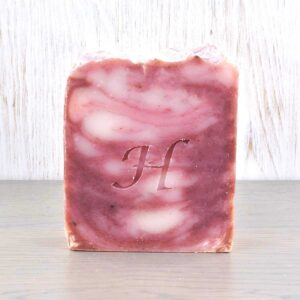 Hatton Handmade Soap bar, rose and geranium soap bar, vegan friendly, plastic-free,