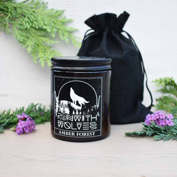 Run With Wolves Amber Forest Soy Wax Candle With Bag
