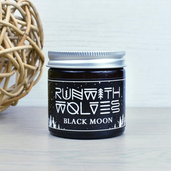 Run With Wolves Black Moon Soy Wax Candle 60ml In Jar