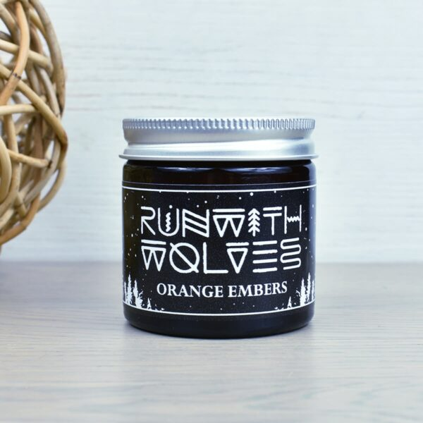 Run With Wolves Orange Embers Soy Wax Candle 60ml In Jar