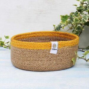 ReSpiin Small Yellow Jute Basket
