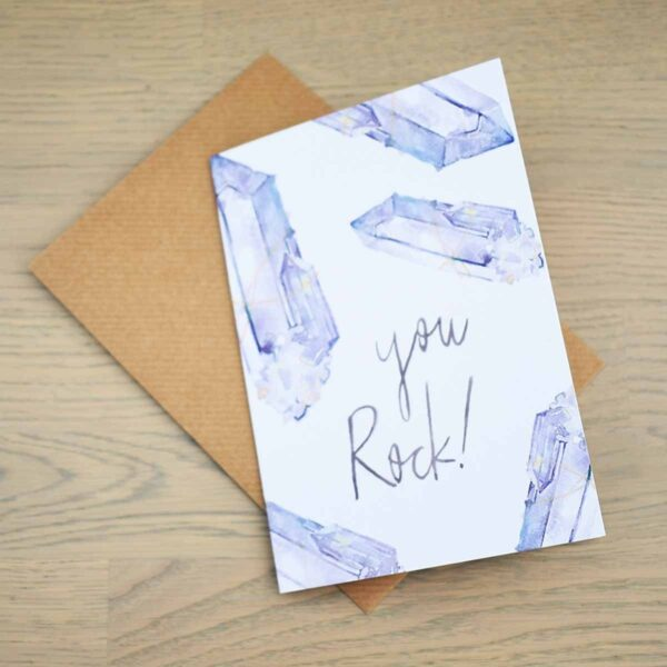 Stefanie Lau Eco-friendly Greetings Card You Rock With Envelope