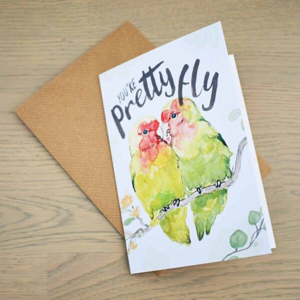 Stefanie Lau Eco-Friendly Greetings Card You're Pretty Fly With Envelope