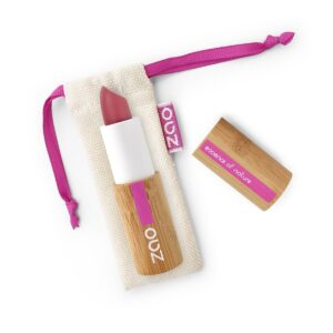 Zao Dark Nude Matte Lipstick And Bag