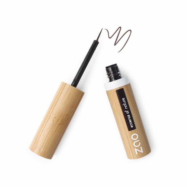 Zao Dark Brown Liquid Eyeliner And Wand
