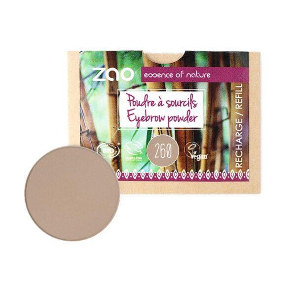 Zao Blonde Eyebrow Powder Refill
