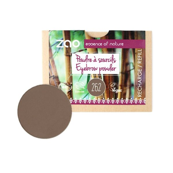 Zao Brown Eyebrow Powder Refill