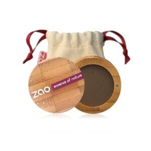 Zao Dark Brown Matte Eyeshadow Case And Bag