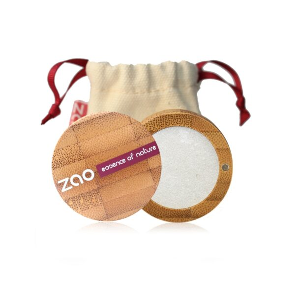Zao Pearly White Eyeshadow Case And Bag