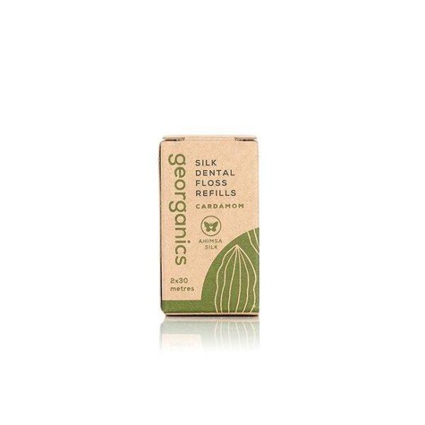 georganics, Refill Natural Silk Dental Floss, dental floss, refill, dental hygiene, plastic-free, bio-degradable, dental care, packaging,