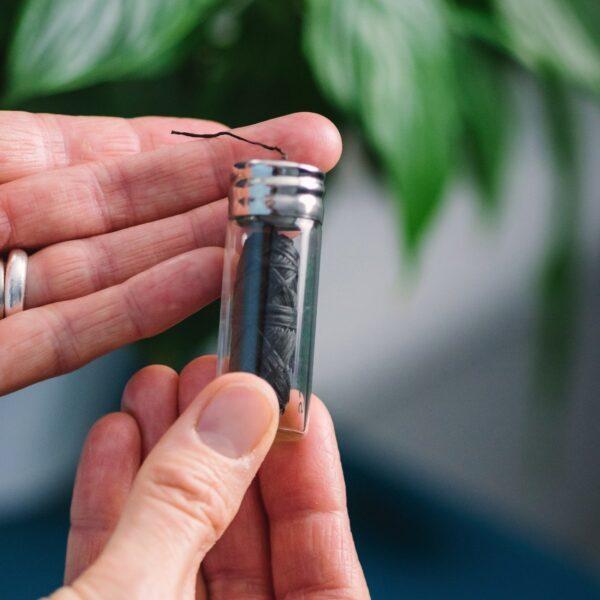 georganics, Minty Charcoal Dental Floss, dental floss refill and glass tube, refill, dental floss, dental floss in glass holder,