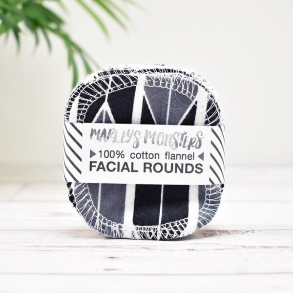 Marleys Monsters Mixed Monochrome Cotton Facial Rounds 20 Pack