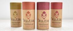Kutis natural deodorant range