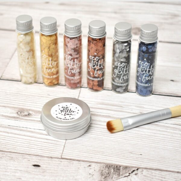 Eco Glitter Fun Uber Chunky Ultimate Pure Biodegradable Glitter Set With Brush And Gel