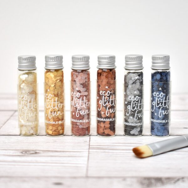 Eco Glitter Fun Uber Chunky Ultimate Pure Biodegradable Glitter Set With Brush