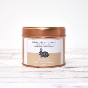 Vegan Bunny Chai Latte Soy Wax Candle