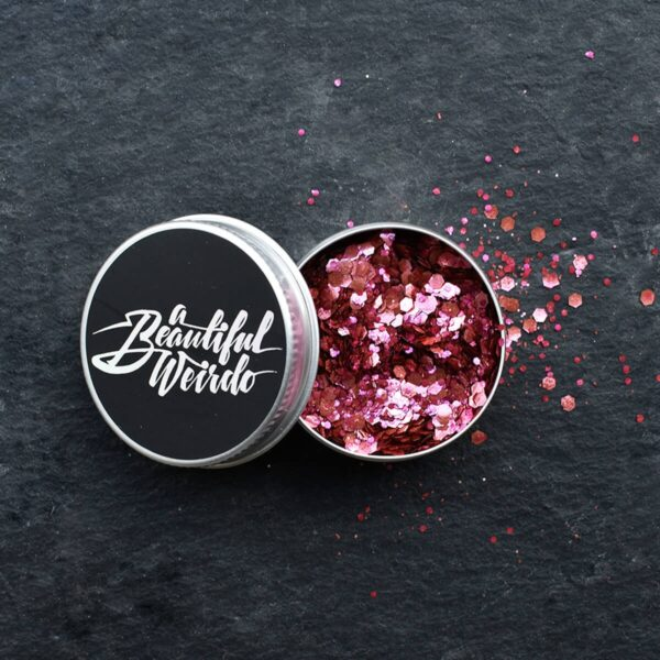 A Beautiful Weirdo Disco Doll Pink Biodegradable Glitter Tin