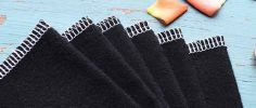 reusable cloth wipes in black