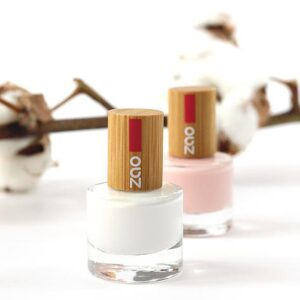 Zao Pink And White French Manicure Nail Polish