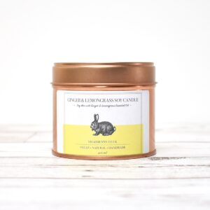 Vegan Bunny Ginger With Lemongrass Soy Wax Candle