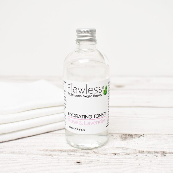 Flawless Rose Lavender Hydrating Toner With Cloth Facial Wipes