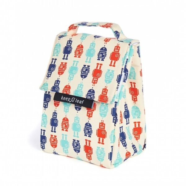 Keep Leaf Robot Print Insulated Lunch Bag