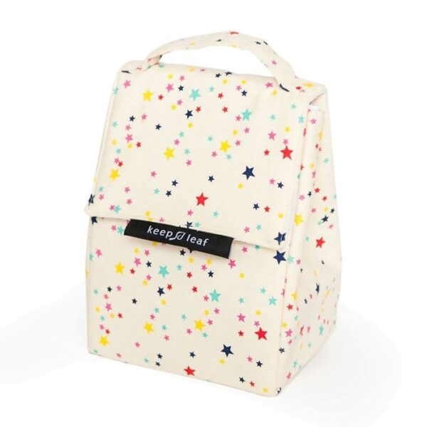 Keep Leaf Insulated Lunch Bag With Star Pattern