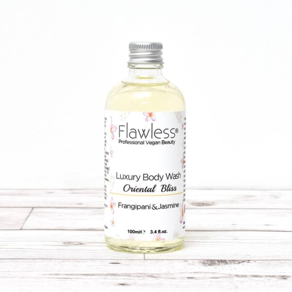 flawless, oriental bliss , Body Wash, skincare, vegan-friendly, handmade, luxury body wash, frangipani , aromatic jasmine,
