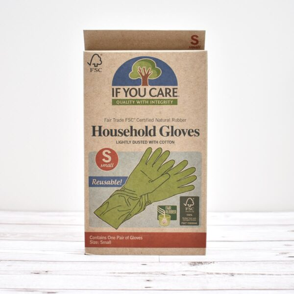 If You Care, natural rubber gloves, rubber gloves, household gloves, compostable, Fair trade, FCS certified natural rubber, plastic-free, vegan-friendly, bio-degradable,