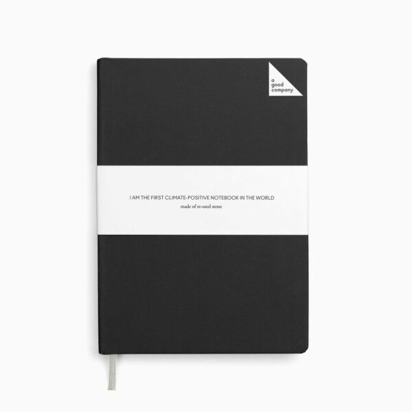 A Good Company Stone Paper Charcoal Black A5 Notebook